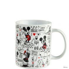 Ajándékötlet: Disney bögre 10x8cm Mickey kávéja a Butlerstől