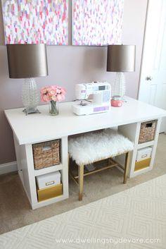 sewing desk | IKEA | Dwellings By DeVore