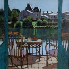 Mike Hall paintings at Beaulieu Fine Arts