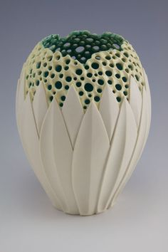 "Simon van der Ven Making objects for warmth, light & nourishment - Illuminated Lotus Vase I - 6.5""h x 5""w, porcelain, $750"