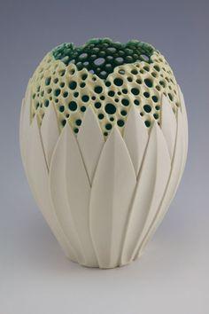 Illuminated Lotus Vase by Simon van der Ven - absolutely breathtaking.  The sheer skill...