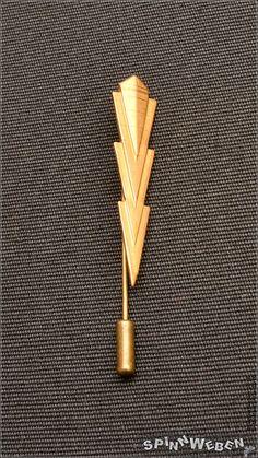 Neu Dieselpunk Streamline Krawattennadel  Metall bronze
