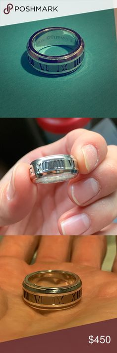 2a04866b5 Rare Tiffany Atlas ring. Unisex size 7 Gently used kept in great condition  has not