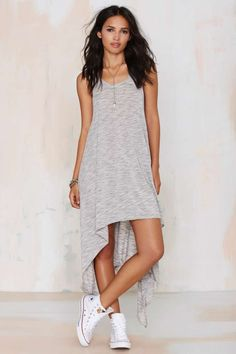 Ramblin' Ann High/Low Jersey Dress//