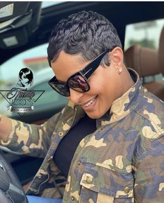 Natural Hair Short Cuts, Short Sassy Hair, Short Hair Cuts, Natural Hair Styles, Short Hair Styles, Pixie Styles, Short Relaxed Hairstyles, Black Women Short Hairstyles, Short Pixie Haircuts