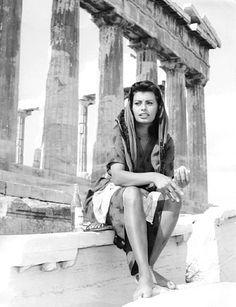 """wehadfacesthen: """"Sophia Loren, 1957 """""""