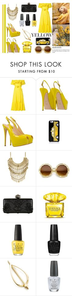 """""""IN LA LA LAND"""" by newplanet ❤ liked on Polyvore featuring Lisa Marie Fernandez, Giuseppe Zanotti, TAXI, Marabelle, Alexander McQueen, Versace, OPI and Elizabeth and James"""