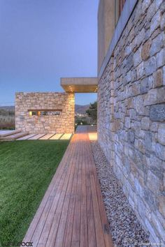 Stone House in Anavissos - Exterior Stone Cladding Exterior, Stone Exterior Houses, Stone Houses, Stone Masonry, Brick And Stone, Amazing Architecture, Architecture Details, House Architecture, Cottage Design