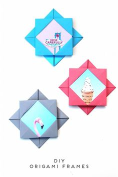 These DIY Origami Photo Frames Will Brighten Up Your Scrapbook Projects – Scrap Booking