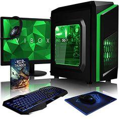 #Sale VIBOX Killstreak LA4 131 #Komplett #PC #Paket #Gaming #PC   4 1GHz #AMD A6 #Dual #Core A...  Tagespreisabfrage /VIBOX Killstreak LA4-131 Komplett-PC #Paket #Gaming #PC  4,1GHz #AMD A6 Dual-Core APU, #Desktop #Gamer #Computer #mit Spielgutschein, 22″ #HD Monitor, #Gamer Tastatur & Mouse, #Gruen Innenbeleuchtung, lebenslange Garantie* (3,9GHz (4,1GHz Turbo) superschneller #AMD A6-6400K Dual-Core-APU / CPU-Prozessor, 8GB DDR3 1600MHz #RAM, 1TB (1000GB) SATA #III #HDD 720