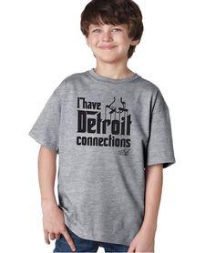 I Have Detroit Connections - Kids T-Shirt - Grey