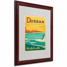 Trademark Fine Art Durban, South Africa Canvas Art by Anderson Design Group, White Matte, Wood Frame, Size: 11 x 14