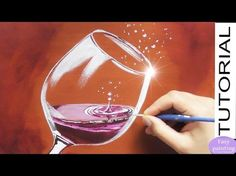 Come and learn how easy it is to paint this great realistic painting! A glass of red wine with sparkling water drops. Easy & fast tutorial in acrylics for be. Gouache Painting, Acrylic Painting Canvas, Acrylic Art, Realistic Paintings, Easy Paintings, Art Du Vin, Wine And Canvas, Wine Painting, Bubble Art