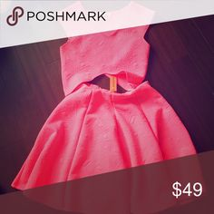 Adorable Neon Pink Outfit So so so so so PINK! Stand OUT!! :) Two piece outfit, comes across as a dress. Dresses