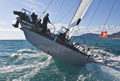 big boat sailing - port tack