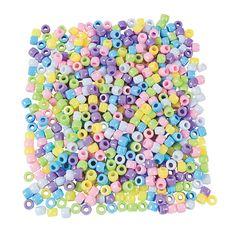 Pastel Pony Beads - 6mm - OrientalTrading.com