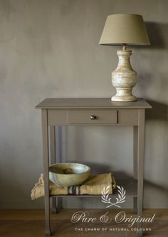 #Kalkverf / Lime Paint #limepaint. color Potato Skin. Table varnish waterbased Potato Skin. credits: House of Harrrison http://www.pure-original.com Lime Paint