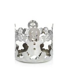 Silver Metal : Jar Holder : Yankee Candle - I love my gingerbread decor!