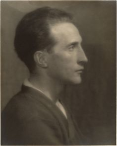 A portrait of the artist Marcel Duchamp, taken by Man Ray, ca. 1920