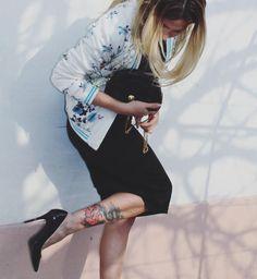 My Kind of style  #stiletto #bomberjacket #taperedskinnyskirt