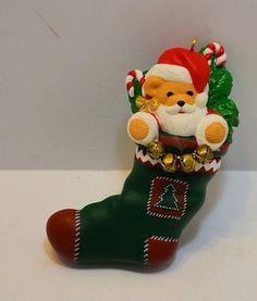 Santa spiderman swinging with holiday gifts ornament american hallmark keepsake 1996 special edition teddy bear santa in green stocking teddy bearskeepsakesstockingsgreenchristmas ornamentsdecor m4hsunfo