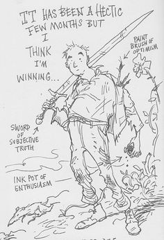 (13)Working on a children's book with Russell Brand – pages from Chris Riddell's sketchbook 2014| Art and design | The Guardian