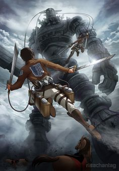 Shadows of Colossus! And SNK! I can't remember the last time I played SoC. I loved that game. (':
