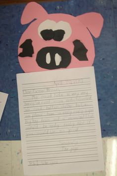 pig craft/ writing