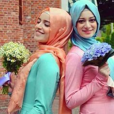 hijab style inspiration  This color of orange.