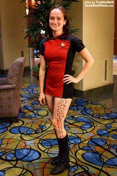 Star Trek TNG Trill cosplay - love her little skant uniform!