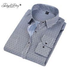 ddd25b2147e DAVYDAISY 2018 Hot Sale  Men  Shirt High Quality  Long Sleeved  Fashion  Plaid