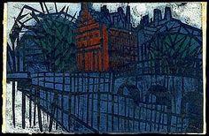 Ono, Tadashige, Amsterdam, woodcut, 1963