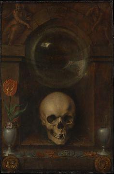 Jacques de Gheyn II (Netherlandish, 1565–1629). Vanitas Still Life, 1603. The Metropolitan Museum of Art, New York. Charles B. Curtis, Marquand, Victor Wilbour Memorial, and The Alfred N. Punnett Endowment Funds, 1974 (1974.1) #skull #Halloween