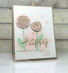 Stamping with a Passion! Elizabeth Craft Designs, Happy Day, Stamping, Birthday Cards, Card Making, Challenges, Paper Crafts, Passion, Cas