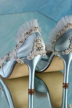 Fairy Tale Wedding Isnpiration: beautiful #wedding shoes, something blue!