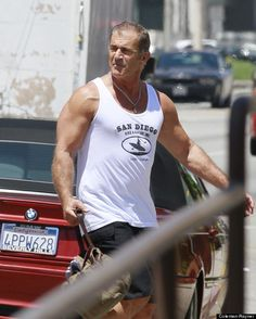 Mel Gibson ripped at age 57.