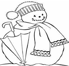 Cute Snowman Coloring Pages | Cute Snowman Coloring Pages 600x578px