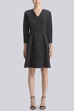 Mesh Applique Embellished Dress