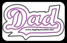 Dad Double Applique Design