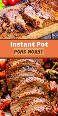 Best Pork Roast Recipe, Instant Pot Pork Roast Recipe, Pork Roast Recipes, Instant Pressure Cooker, Pressure Cooker Pork, Pressure Cooking, Slow Cooker, Bbq Pork Loin, Pork Sirloin Roast