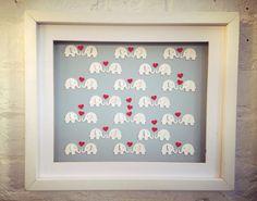 Elephants in love  white  by Polkadotcorner22 on Etsy