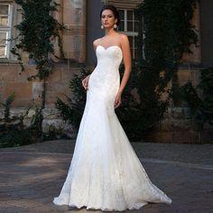 Find More Wedding Dresses Information about Vestido De Noiva 2017 Lace Wedding  Dress With Appliq . d0d1e362e814