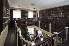 Bromley House Library in Nottingham, England. A particularly fine spiral staircase and gallery is a feature of the largest room. The Library contains about books: local history, topographical works, and a wide selection of and early century novels. Lending Library, Sherwood Forest, Home Libraries, Library Design, Built Environment, England Uk, Stairs, Interior Design, Architecture