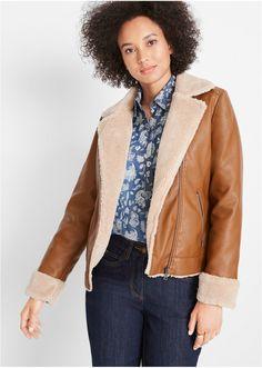 Μήκος περίπου 60 εκ. Πλένεται στο πλυντήριο. Από 91% πολυέστερ, 7% βαμβάκι, 2% βισκόζη. Red Leather, Leather Jacket, Bomber Jacket, Jackets, Style, Fashion, Studded Leather Jacket, Down Jackets, Swag