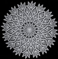 Pineapple Doily crochet pattern from Suggestions for Fairs and Bazaars, originally published by American Thread Co, Star Book No. 98, in 1953.