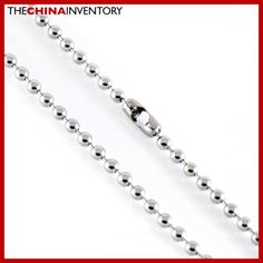 22` STAINLESS STEEL 4MM BEADED NECKLACE N1210