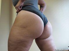 big butt in lycra shorts