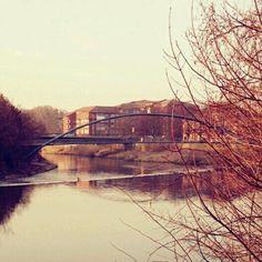 Werderbrücke neben der Pfortmühle
