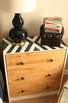 Ikea Rast Hack- my boys need new dressers. Maybe something like this, fun pattern on top
