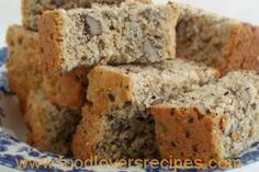 Healthy Banana Bread (Low fat/low sugar recipe made with agave and applesauce) (Low Carb Kuchen Apfelmus) Low Sugar Recipes, No Sugar Foods, Banana Bread Recipes, Agaves, Rusk Recipe, Ma Baker, Scones, Healthy Banana Bread, South African Recipes